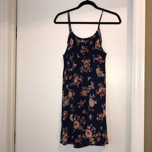 My Story Navy with Floral Print Dress